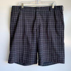 ⛳NIKE Golf Dri-Fit Gray Black Plaid Shorts Size 38